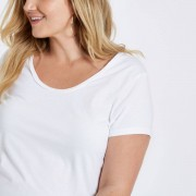 River Island Womens Plus Size White scoop neck T-shirt (Size 26)