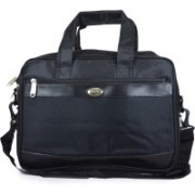Fashion Knockout 15 inch Inch Expandable Laptop Messenger Bag(Black)