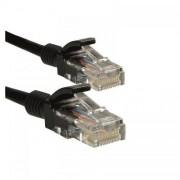 Cablu UTP 4World Patchcord neecranat Cat 5e 20m Negru