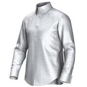 Maatoverhemd wit/blauw 53293