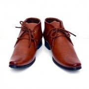 00RA ANKLE LENGTH BEIGE TAN COLOR OFFICE WEAR FORMAL SHOES FOR MEN LONG MEN'S BOOTS PARTY WEAR