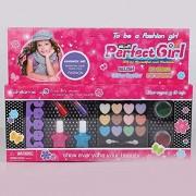 Eduton Niños compone el kit Pretend Maquillaje Juego Case y cosméticos conjunto chicas pretenden Juego de uñas pelo de la cara Set Styling