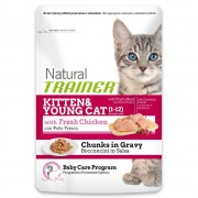 Trainer Natural Cat Trainer Natural Kitten & Young con Pollo Fresco - 24 x 85 g