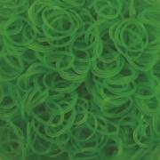 Elastice Rainbow Loom - Neon Verde - 300 buc.