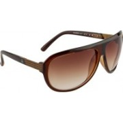 United Colors of Benetton Aviator Sunglasses(Brown)