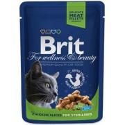 Brit Premium Cat Chicken Slices for Sterilised 100g alutasakos