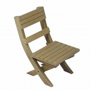 """Adventure Camp Rustic Wooden Folding Chair, For Camping In Comfort And Style, Furniture Fits 18"""" American Girl Dolls"""