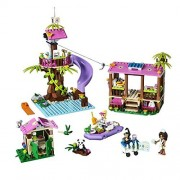 Lego Friends Jungle Animal Rescue Medical Station Bathroom Hut Boat Base 472 Pieces
