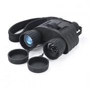 Infrared NightVision Binoculars QIYAT 4x50 HD Digital Hunting IR Telescope with 1.5 inch TFT LCD Display, 980ft/300M viewing Range, Waterproof, 5MP HD