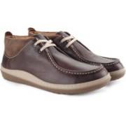 Clarks Gait Mid Men Genuine Leather Boots For Men(Brown)