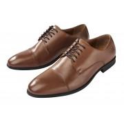 LIVERGY® Lederen derbyschoenen voor heren (42, bruin)