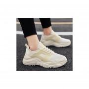 Fiesta casual transpirable calzado deportivo para hombre albaricoque