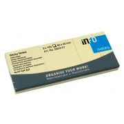 Notes autoadeziv (3 seturi), 40 x 50mm, 100 file/set, galben pastel, INFO NOTES