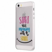Husa Silicon Transparent Slim Smile At Morning Apple iPhone 5 5S SE