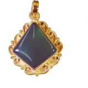 Riyo Green Onyx 18 Ct Y.G. Plated Casual Pendant L 1.2in Gppgon-30042