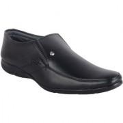 ShoeAdda Easy Walk Black Slip On Shoes