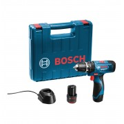 Bosch GSB 1080-2-Li akumulatorska vibraciona bušilica/odvrtač 2x1,5 Ah baterije u koferu