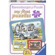PRIMUL MEU PUZZLE POLITIE POMPIERI 3x6 PIESE Ravensburger