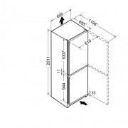 GARANTIE 4 ANI Combina frigorifica Liebherr, Congelator NoFrost, DuoCooling, Clasa A++, Alb CN 4713