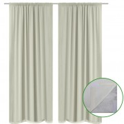 vidaXL 2 pcs Cream Energy-saving Blackout Curtains Double Layer 140 x 245 cm
