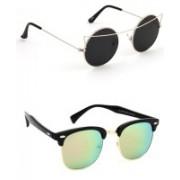 Eyeland Wayfarer, Round, Oval Sunglasses(Multicolor, Black)