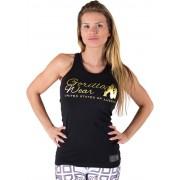 Gorilla Wear Florence Tank Top - Zwart/Goud - L