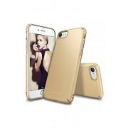 Husa Protectie Spate Ringke Slim Royal Gold pentru Apple iPhone 7 si folie protectie display