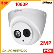 Wholesale Dahua 2mp IP Camera DH-IPC-HDW1220C Waterproof IP67 H.264 IR 80m Support POE and Onvif