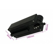 Testa Alimentazione Con Box Led Driver Colore Nero Per Faro Led Binario Mono Fase CB0080 CB7180 CB7280 CB7380