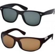 Freny Exim Aviator, Wayfarer Sunglasses(Grey, Brown)