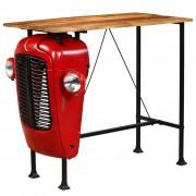 """Sonata Бар маса """"Трактор"""", мангово дърво масив, червена, 60x120x107 см"""