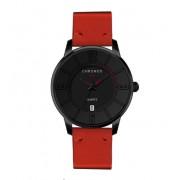 CHRONOS Męski zegarek CHRONOS na czerwonym pasku