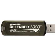Kanguru Defender 3000, 128GB Unidad Flash USB USB Tipo A 3.0 (3.1 Gen 1) Café Memoria USB (128GB, 128 GB, USB Tipo A, 3.0 (3.1 Gen 1), Tapa, 38 g, Café)