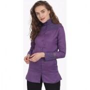 Soie Plain Shirt Collar Casual Shirts For Women Single