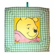 Tablou textil pentru perete Winnie the Pooh, verde carouri