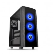 Carcasa Thermaltake Versa J25, Tempered Glass, RGB (Negru)