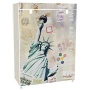 Vászon tároló szekrény, cipős 80 x 30 x 60 cm New York