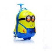 GOCART Egg Shape Hard Side Rotating Printed Pattern Fashionable Smart School Bag Cabin Luggage - 16 inch(Yellow)