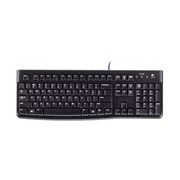 Logitech K120 Keyboard - Cable Connectivity - USB Interface - Black