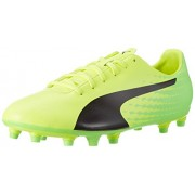 Puma Men's Evospeed 17.5 Fg Safety Yellow, Puma Black and Green Gecko Football Boots - 7 UK/India (40.5 EU)