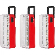 X-EON RL-114RD 10W OliteRock Solar Rechargeable Emergency Light Portable -Mix Color ( Pack of 3 )
