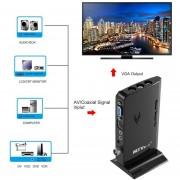 EH MTV Caja HD LCD CRT TV BOX AV A VGA TV Receptor Sintonizador Con Mando A Distancia - Negro