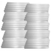 Гранична лента за цветна леха [casa.pro]® 15 cm x 50 m, Сребриста, Поцинкована стомана