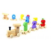 LAKSHYA Wooden Number/Digital Train Blocks Toys for Kids and Toddlers,Best Educational Set of Trains with Fun and Colorful 0-9 (Multicolour)