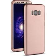 Husa Fullbody MyStyle Rose-Gold pentru Samsung Galaxy S8 acoperire completa 360 grade cu folie de protectie gratis