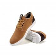 Zapatos Casuales Para Hombre Respirable Estilo De Inglaterra De Moda Zapatos Deportivos-Marrón