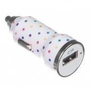 Incarcator auto Trendz Bullet Polka Dot 2100 mAh USB