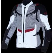 Macna Furio Nighteye Chaqueta de moto textil Negro Gris Rojo XL