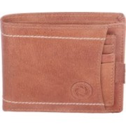 New Tareen Men Casual Brown Genuine Leather Wallet(13 Card Slots)