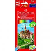 Creioane Colorate Eco Faber-Castell 36 culori / cutie carton + ascutitoare